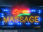 QUALITY BRIGHT WINDOW HANGING NEON DISPLAY FLASHING LED OPEN MASSAGE SIGN UKSELL