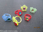 KIDS GIRLS PRINCESS GEM JEWEL PLASTIC RINGS PARTY PINATA GIFT BAG TOYS FREE P&P