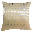 EC008 Silver Polka Dot Light Gold Pattern Cushion Cover/Pillow Case *Custom Size