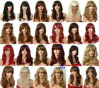 Wig Fashion wavy synthetic natural medium party wig uk blonde Black Brown Red F