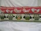 TAPESTRY / VINTAGE DRAUGHT EXCLUDER BY COUNTRY CRAFTS - OWLS OR BIRDS