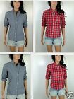 NWT Hollister Women's Shirt Classic Fit Preppy check pattern By Abercrombie