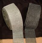 Cake Ribbon Band Silver Diamante Mesh for Cakes Sewing or Crafts