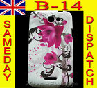 BUTTERFLY FLOWER FLORAL SILICONE RUBBER GEL COVER CASE FOR HTC MOBILE PHONES