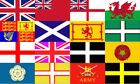 BRITISH FLAG. UNION JACK FLAG, WELSH FLAG, IRELAND FLAG. SCOTLAND FLAG.