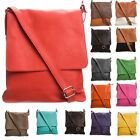 New Mini Real Soft Leather Adjustable Strap Unisex Cross Body Mini Messenger Bag