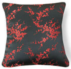 Bf062a Red Peach Blossom Rayon Brocade Cushion Cover/Pillow Case*Custom Size