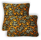 BL102a Light Gold Old Gold Dragon Brown Rayon Brocade Cushion Cover Custom Size