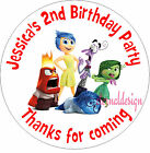 PERSONALISED BIRTHDAY INSIDE OUT STICKERS SEALS GIFT FAVOURS INVITES KIDCS21
