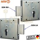 AMF100Z Gate Shed Van Lock Double Throw Zinc Plated Heavy Duty Rim Deadlock