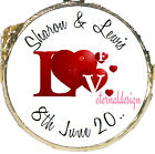 PERSONALISED WEDDING DAY RED LOVE HEARTS MINT CHOCOLATES FAVOURS SWEETS WDMC 30