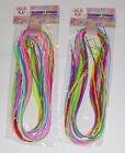 2 X PACKS PACKETS OF SCOOBY STRINGS SCOOBIES SCOUBIDOU PARTY BAGS CRAFT FUN PLAY