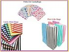 10 x Candy Stripe Paper Pick n Mix Birthday Party Gift Bags - You Choose Design