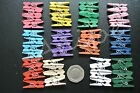 MINI CLOTHES PEGS  x 50 Ideal for Crafting, scrapbooking, wedding, hanging