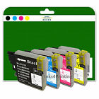 1 Full Set of Compatible Printer Ink Cartridges for the Brother LC980 Range