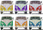 VW CAMPER VAN STICKER WALL DECAL OR IRON ON TRANSFER T-SHIRT FABRICS  FACE VIEW