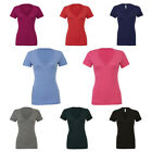 New BELLA CANVAS Womens Ladies Triblend Deep V Neck T Shirt 8 Colours Size 8-16