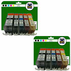 2 Full Sets of Compatible Printer Ink Cartridges for the Canon 520/1 Range