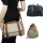 Ladies Womens Canvas Satchel School Bag Handbag gwegifts