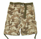 SOUTHPOLE Mens Camouflage Camo Cargo Ripstop Shorts SP Collection DESERT pic siz