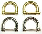 Two Replacemeent Brass/Nickel D-Rings For Willis/Murphy Bag - Beekman Briefcase