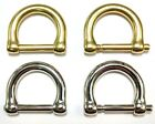 Two Replacement Brass/Nickel D-Rings For Willis/Murphy Bag - Beekman Briefcase