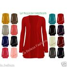 New Women Ladies Girls Long Sleeve Boyfriend Cardigans Top UK Size 8-14