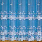 OLIVIA FLORAL NET CURTAIN IN WHITE SOLD BY THE METRE