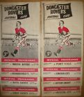 Doncaster Rover's Home Programme's  1956/57 +1957/58   Div 2