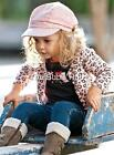 New baby girl toddler 3 piece set leopard top, jacket cardigan, jeans size 0-5