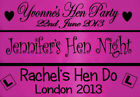 PERSONALISED HOT PINK HEN PARTY NIGHT DO BANNER ACCESSORIES DECORATIONS