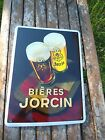 PLAQUE EMAILLEE PUBLICITAIRE MARQUES BIERE GARANTI EMAIL NEUF FAB FRANCE PROMO