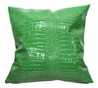 pd1017a Lime Faux Crocodile Glossy Leather Cushion Cover/Pillow Case*Custom Size