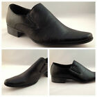 New Mens Plain Black Shoes Slip Ons Size 6 7 8 9 10 11