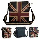 Unisex Union Jack GB UK Souvenir Gift Travel Faux Leather Mesenger Bag - Small