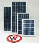 10w 15w 20w 25w Solar Panel 12v Battery Charger /w Block Diode & Alligator Clips