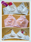 White Pink Non-Padded Cotton Stretchy Cup Wire Free Bras Plus-size16-32 B-G AU