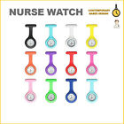 Fashion Silicone Nurses Brooch Tunic Fob Watch with Free Battery