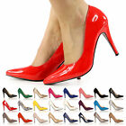 WOMEN LADIES STILETTO HIGH HEEL POINTED COURT SHOES SIZE UK 3 4 5 6 7 8