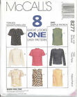 McCall's 8277 Misses' Tops   Sewing Pattern