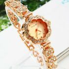 Hot Luxury Rhinestone Women Fashion Stainless Steel Quartz Analog Wrist Watch