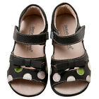 Little Blue Lamb Brown Dots Cow Leather Sandals Shoes Toddler Girls 6 to 10 New