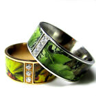 His & Hers Camo Wedding Rings Camouflage Gear Band Stainless Steel Hunters Army