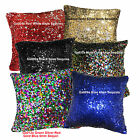 Ga001a Silver 6mm Sequins w/ Velvet Cushion Cover/Pillow Case*Custom Size*