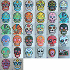 Sugar Skull Iron On/ Sew Cloth Patch Badge mexico day of the dead día de muertos