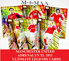 Choose Your ADRENALYN XL MANCHESTER UNITED 2011 ULTIMATE LEGENDS Gold Cards