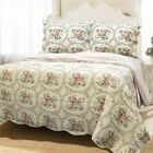 Reminiscent Mood Red 3-Piece Cotton Quilt Set, Bedspread, Coverlet image