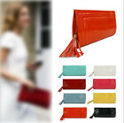 New Womens Ladies Handbag Colorful Crocodile Pattern Embossed Clutch with Tassel
