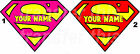 PERSONALISED SUPERMAN WOMAN IRON ON TSHIRT TRANSFER OR STICKER WALL DECO LOT SP
