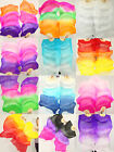 CARRY BAG PAIRS 1.5M BELLY DANCE 100 SILK BAMBOO FAN VEILS MULTI-COLOR 5690